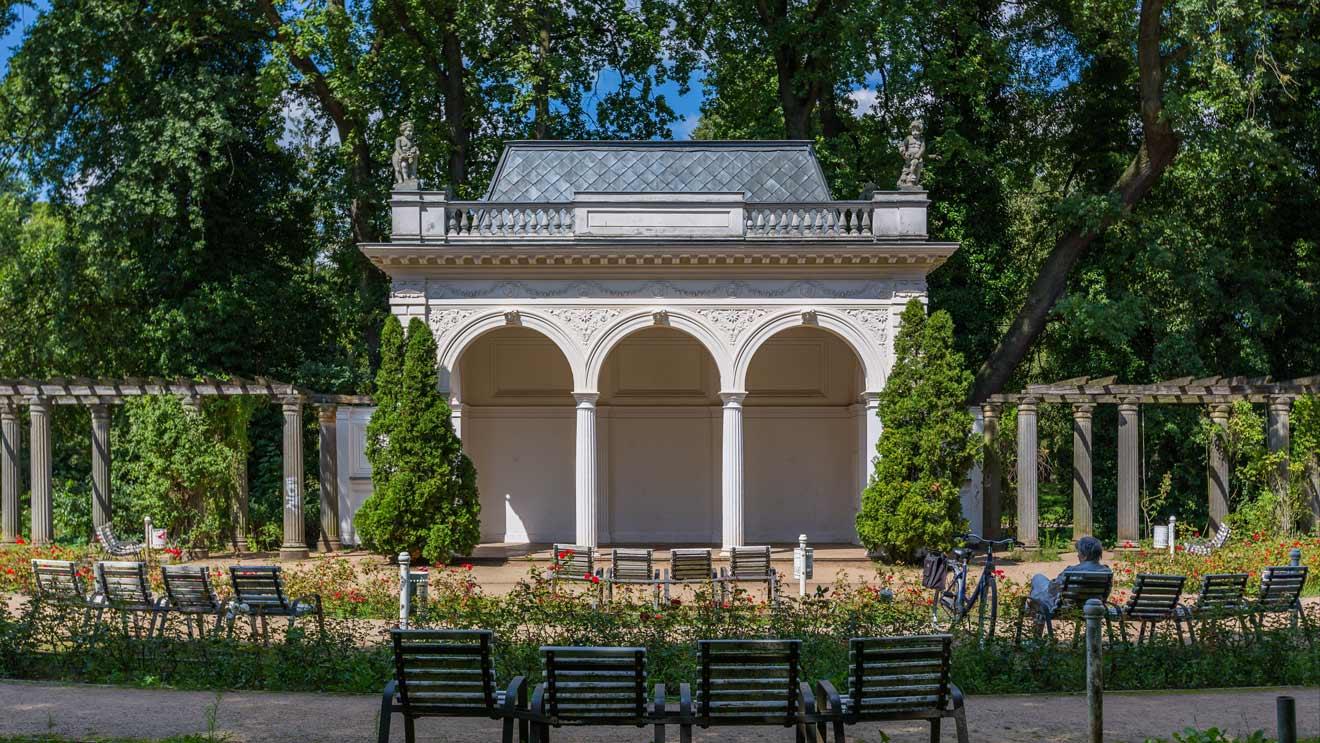 Rosengarten im Park von Pankow Bürgerpark